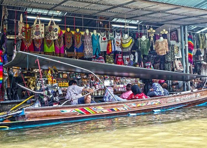 Voyage en Thaïlande: Le marché flottant de Damnoen Saduak